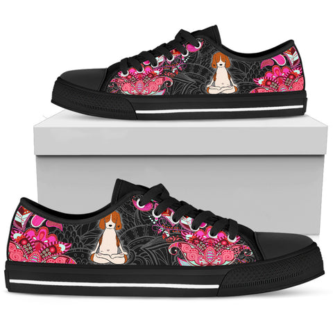 Beagle Meditation Women's Low Top Shoe - Black