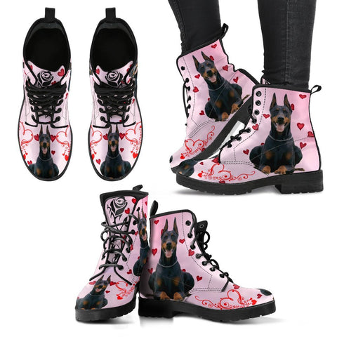 Valentine's Day Special-Doberman Pinscher Print Boots For Women-Free Shipping