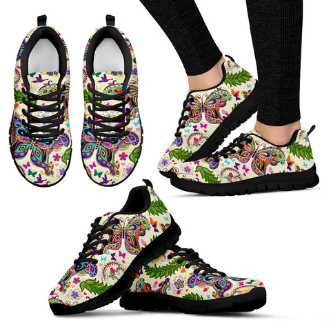 Colorful Butterfly Women's Sneakers