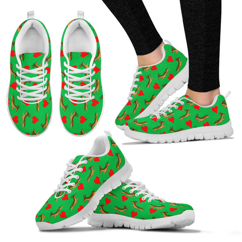 Dachshund Lovers Women's Sneakers - Green