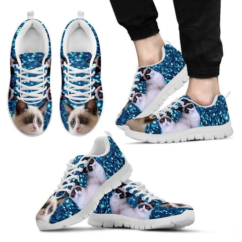 Snowshoe cat (Black/White) Running Shoes For Men-Free Shipping Limited Edition