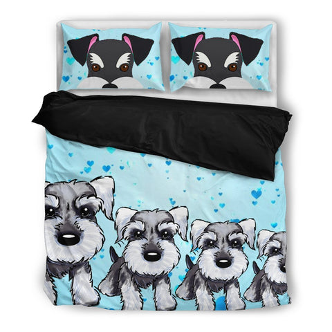 Amazing Miniature Schnauzer Print Bedding Set- Free Shipping