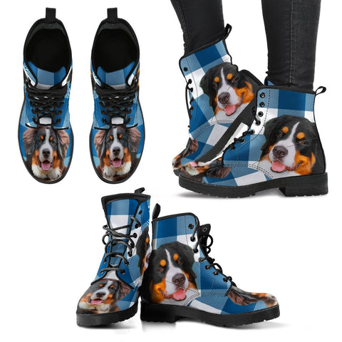 New Bernese Mountain Dog Print Boots For Women- Free Shipping