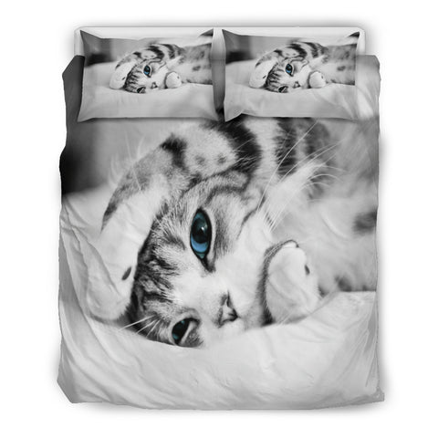 Cute Cat Lovers Doona Bedding Set - 3 Piece