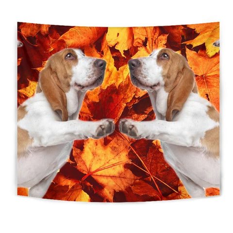 Lovely Basset Hound Print Tapestry-Free Shipping