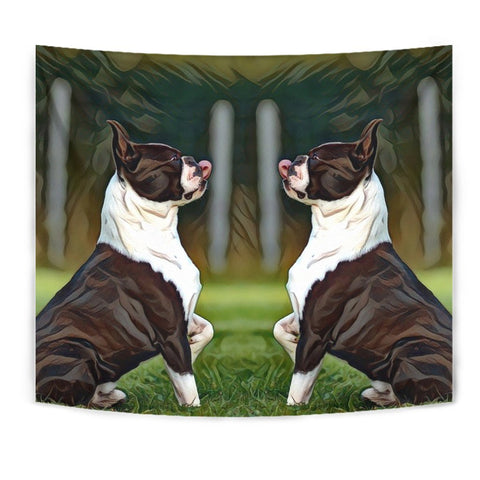 Amazing Boston Terrier Dog Art Print Tapestry-Free Shipping
