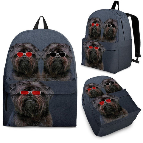Affenpinscher Dog Print Backpack-Express Shipping