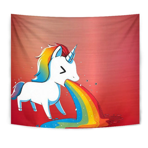 Rainbow Unicorn Print Tapestry-Free Shipping