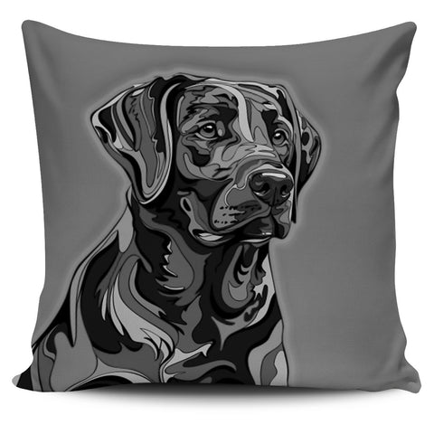 Labrador Retriever Dog Pillow Cover - Black & White