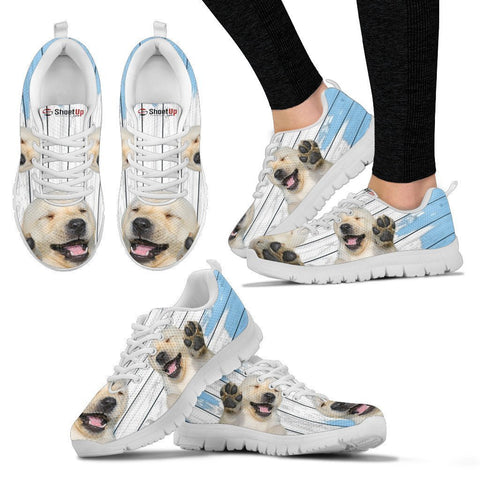 Labrador Retriever Blue White Print Sneakers For Women-Free Shipping