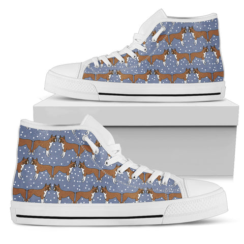 Boxer Dog Pattern Shoes Women's High Top
