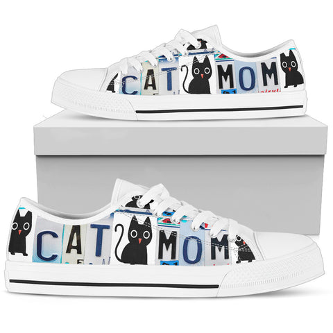 "Cat Print Shoes ""Cat Mom"" License Plate"