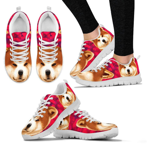 Valentine's Day Special-Akita Dog Print Running Shoes For Women- Free Shipping