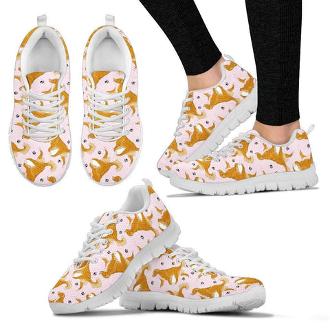 Nova Scotia Duck Tolling Retriever Pattern Print Sneakers For Women- Express Shipping