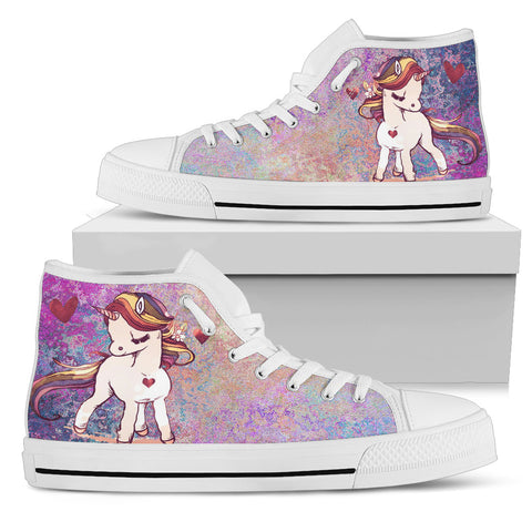 Unicorn White Women's High Top