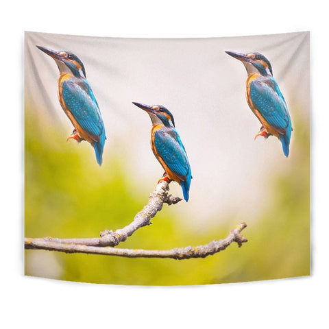 Kingfisher Bird Print Tapestry-Free Shipping