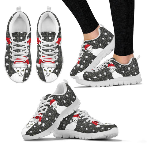 Cornish Rex Cat Print Christmas Running Shoes For Women-Free Shipping