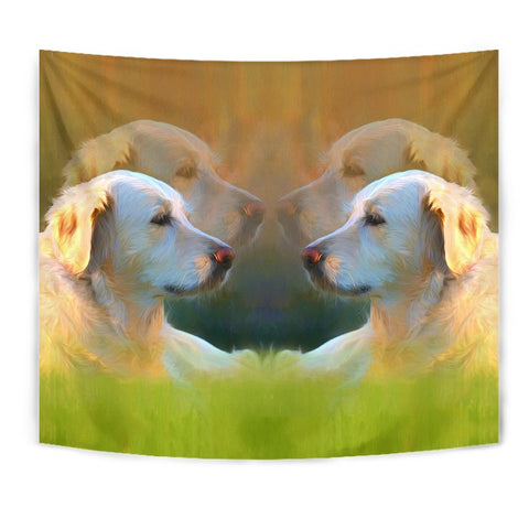 Golden Retriever Dog Oil Painting Print Tapestry-Free Shipping