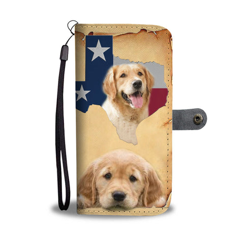 Cutest Golden Retriever Print Wallet Case-Free Shipping-TX State