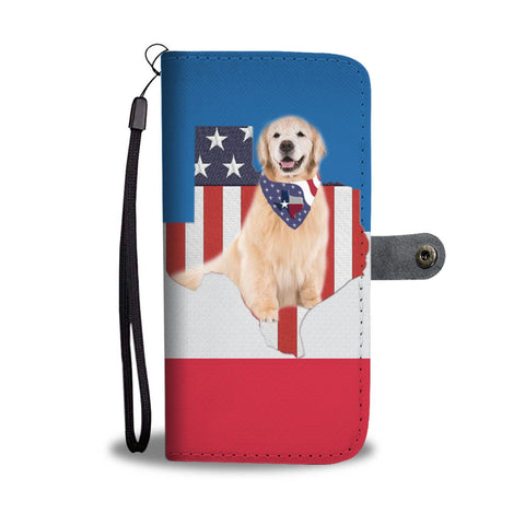 Golden Retriever Print Wallet Case-Free Shipping-TX State