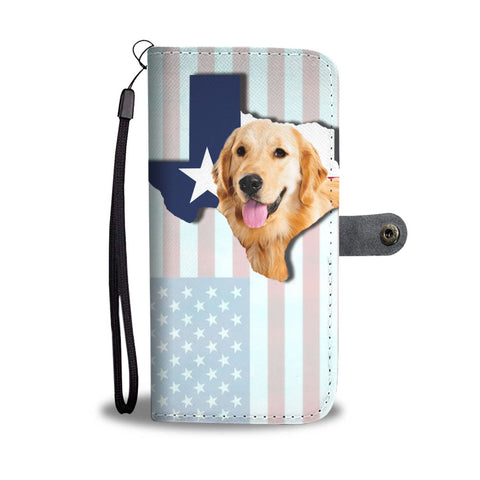 Golden Retriever Dog Print Limited Edition Wallet Case-Free Shipping-Tx State