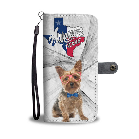 Yorkshire Terrier (Yorkie) Print Wallet Case-Free Shipping-TX State