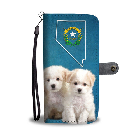 Bichon Frise Puppies Print Wallet Case- Free Shipping-NV State
