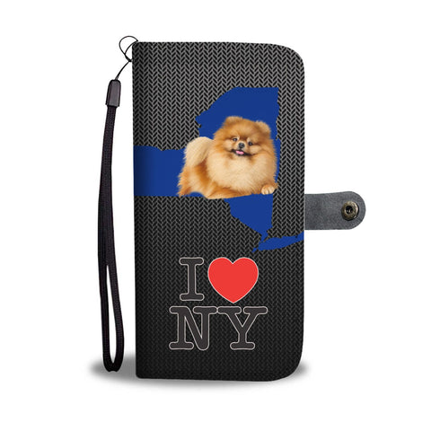 Cute Pomeranian Dog Print Wallet Case-Free Shipping-NY State
