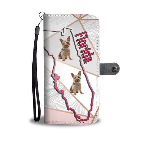 Yorkshire Terrier (Yorkie) Print Wallet Case-Free Shipping-FL State