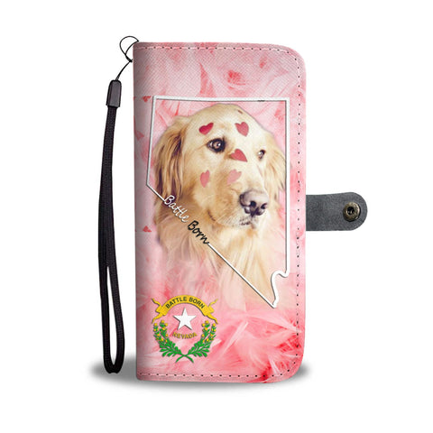 Golden Retriever Print Wallet Case- Free Shipping-NV State