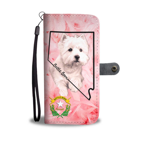 West Highland White Terrier Print Wallet Case-Free Shipping-NV State