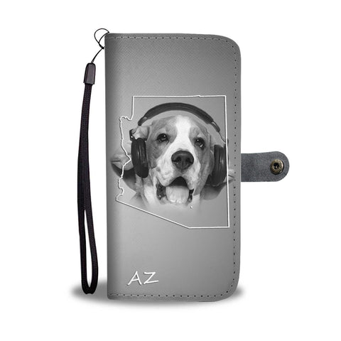 Beagle Dog Print Wallet Case- Free Shipping-AZ State