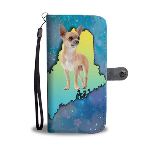 Chihuahua Dog Print Wallet Case-Free Shipping-ME State