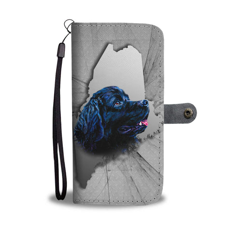 Newfoundland Dog Print Wallet Case-Free Shipping-ME State