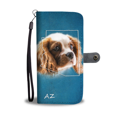 Cute Cavalier King Charles Spaniel Print Wallet Case-Free Shipping-AZ State