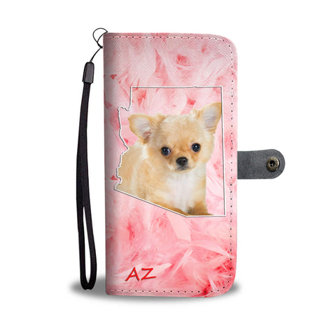 Cute Chihuahua Print Wallet Case- Free Shipping- AZ State