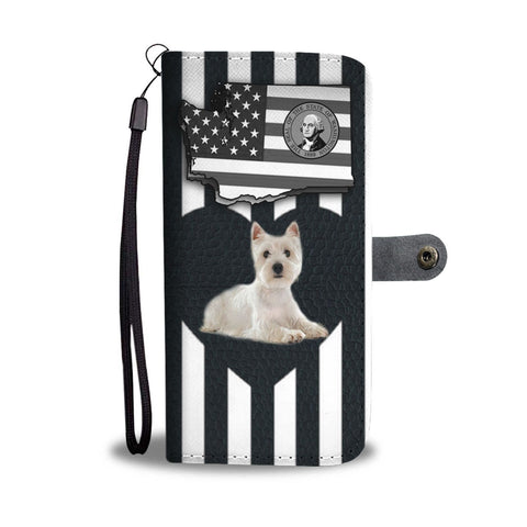 West Highland White Terrier (westie) Print Wallet Case-Free Shipping-WA State