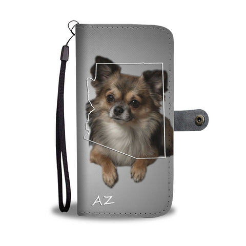 Chihuahua Print Wallet Case-Free Shipping-AZ State