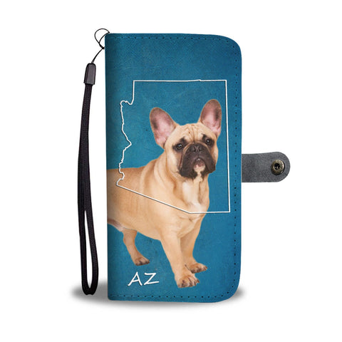 French Bulldog Print Wallet Case-Free Shipping- AZ State
