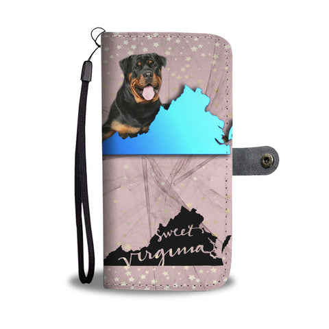 Rottweiler Dog Print Wallet Case-Free Shipping-VA State