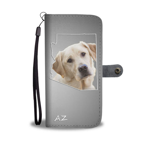 Cute Labrador Retriever Print Wallet Case- Free Shipping-AZ State