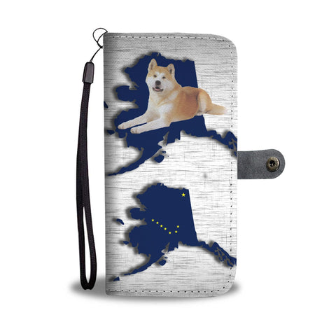 Akita Dog Print Wallet Case-Free Shipping-AK State