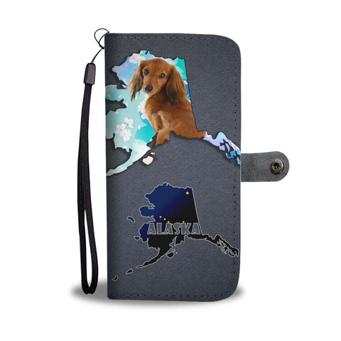 Cute Dachshund Dog Print Wallet Case-Free Shipping-AK State
