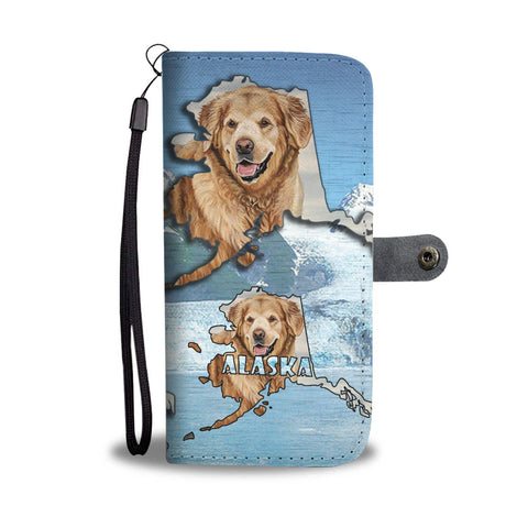 Golden Retriever Dog Print Wallet Case-Free Shipping-AK State