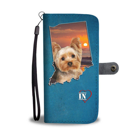 Yorkshire Terrier Print Wallet Case-Free Shipping- IN State