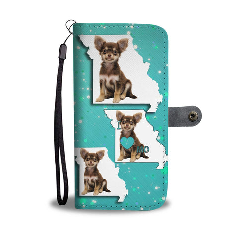 Cute Chihuahua Dog Print Wallet Case-Free Shipping-MO State