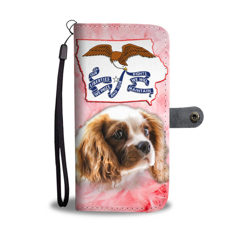 Cavalier King Charles Spaniel Print Wallet Case- Free Shipping-IA State