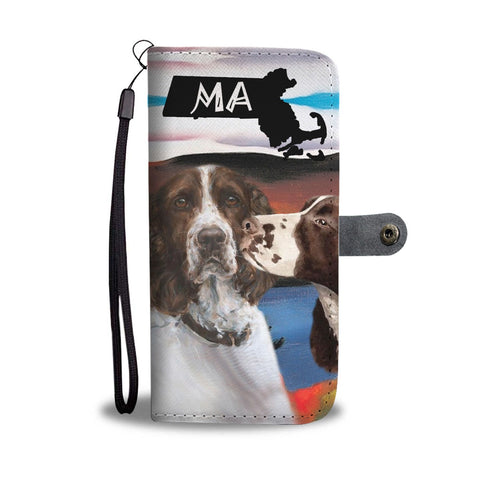 English Springer Spaniel Print Wallet Case-Free Shipping-MA State