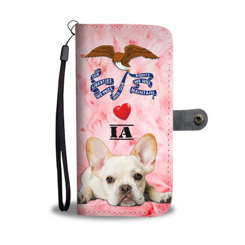 Cute French Bulldog Print Wallet Case-Free Shipping- IA State