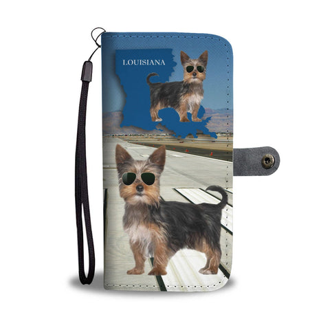 Yorkshire Terrier (Yorkie) Print Wallet Case-Free Shipping-LA State